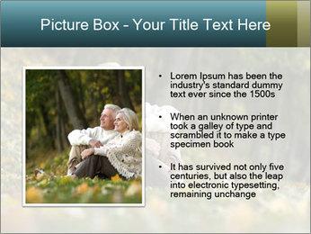 Happy old people sitting PowerPoint Template - Slide 13
