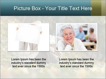 Happy old people sitting PowerPoint Template - Slide 18