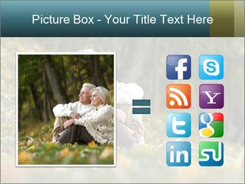 Happy old people sitting PowerPoint Template - Slide 21