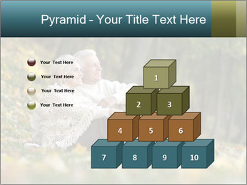 Happy old people sitting PowerPoint Template - Slide 31