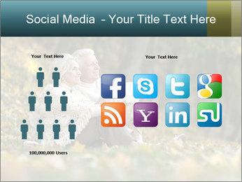 Happy old people sitting PowerPoint Template - Slide 5