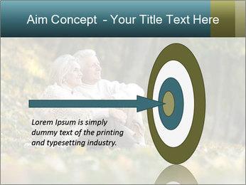 Happy old people sitting PowerPoint Template - Slide 83