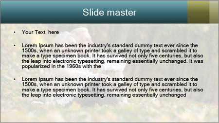 Happy old people sitting PowerPoint Template - Slide 2