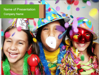 Carnival kids PowerPoint Template