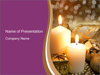 Christmas decoration PowerPoint Template - Slide 1