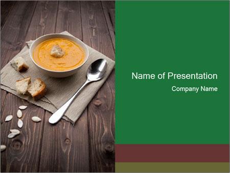 Bowl of pumpkin soup PowerPoint Templates