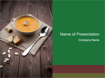 Bowl of pumpkin soup PowerPoint Templates - Slide 1