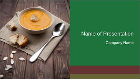 Bowl of pumpkin soup PowerPoint Template