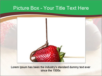 Gourmet Chocolate Covered Strawberries PowerPoint Templates - Slide 15