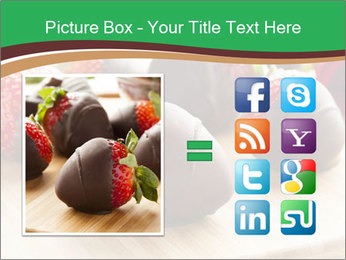 Gourmet Chocolate Covered Strawberries PowerPoint Templates - Slide 21