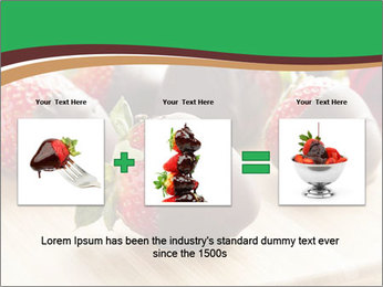 Gourmet Chocolate Covered Strawberries PowerPoint Template - Slide 22