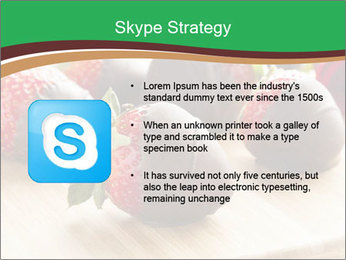 Gourmet Chocolate Covered Strawberries PowerPoint Templates - Slide 8
