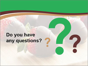 Gourmet Chocolate Covered Strawberries PowerPoint Templates - Slide 96
