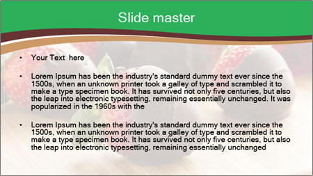 Gourmet Chocolate Covered Strawberries PowerPoint Template - Slide 2