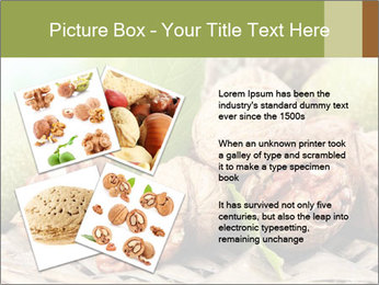 Walnuts with green leaves PowerPoint Templates - Slide 23
