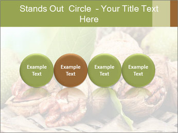 Walnuts with green leaves PowerPoint Templates - Slide 76