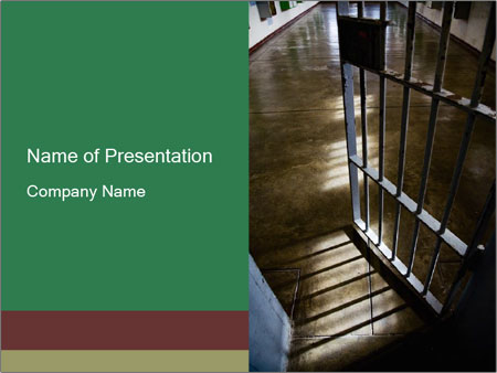 Metal bar door PowerPoint Templates