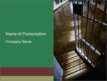 Metal bar door PowerPoint Templates - Slide 1