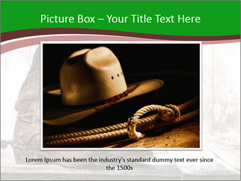 American West rodeo pair PowerPoint Templates - Slide 15