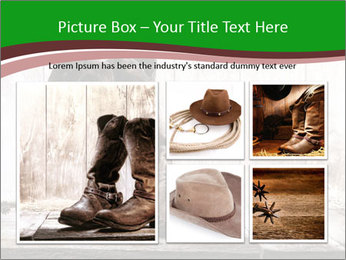 American West rodeo pair PowerPoint Templates - Slide 19