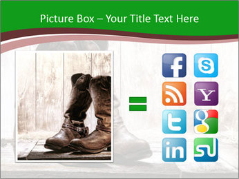 American West rodeo pair PowerPoint Templates - Slide 21