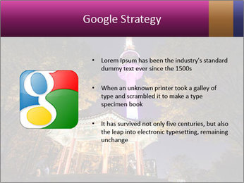 A night time shot of N Seoul tower PowerPoint Template - Slide 10