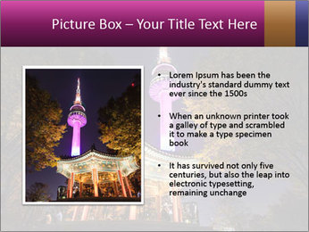 A night time shot of N Seoul tower PowerPoint Template - Slide 13