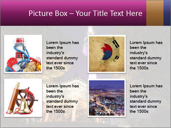 A night time shot of N Seoul tower PowerPoint Templates - Slide 14