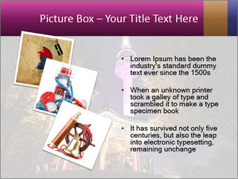 A night time shot of N Seoul tower PowerPoint Template - Slide 17