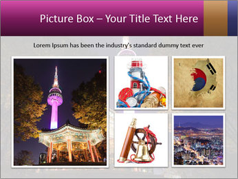 A night time shot of N Seoul tower PowerPoint Template - Slide 19
