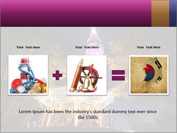 A night time shot of N Seoul tower PowerPoint Template - Slide 22