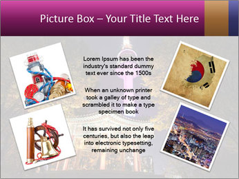 A night time shot of N Seoul tower PowerPoint Template - Slide 24
