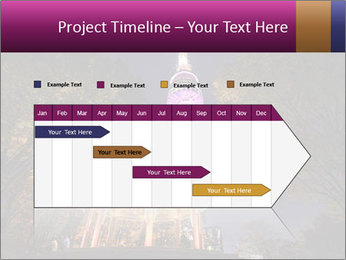 A night time shot of N Seoul tower PowerPoint Template - Slide 25