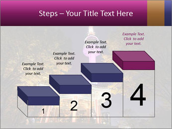 A night time shot of N Seoul tower PowerPoint Template - Slide 64