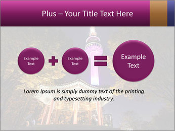 A night time shot of N Seoul tower PowerPoint Template - Slide 75