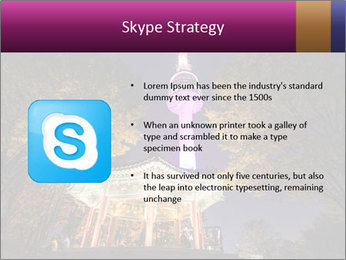 A night time shot of N Seoul tower PowerPoint Template - Slide 8