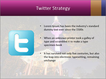 A night time shot of N Seoul tower PowerPoint Template - Slide 9