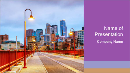 Downtown Minneapolis PowerPoint Template
