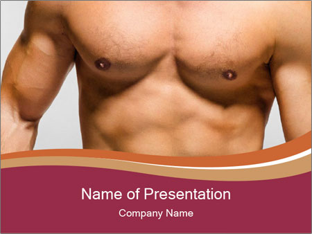 Naked muscular man PowerPoint Templates