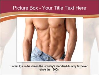 Naked muscular man PowerPoint Template - Slide 15