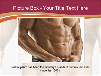 Naked muscular man PowerPoint Template - Slide 16