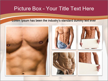 Naked muscular man PowerPoint Template - Slide 19