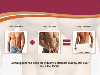 Naked muscular man PowerPoint Template - Slide 22