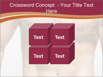 Naked muscular man PowerPoint Template - Slide 39