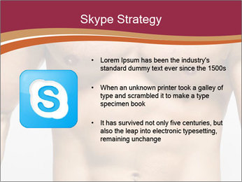 Naked muscular man PowerPoint Template - Slide 8