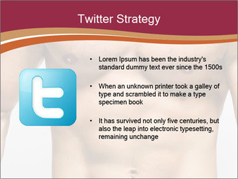 Naked muscular man PowerPoint Template - Slide 9