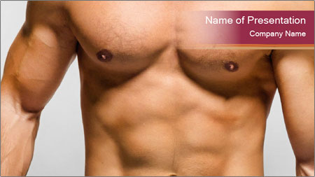 Naked muscular man PowerPoint Template