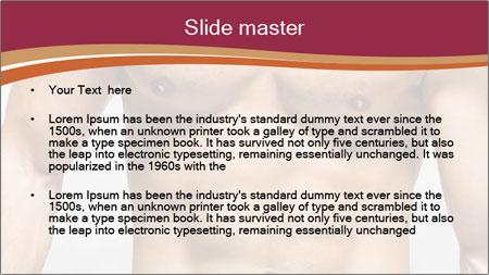 Naked muscular man PowerPoint Template - Slide 2