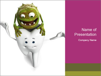 Funny tooth PowerPoint Template - Slide 1