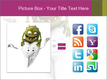 Funny tooth PowerPoint Template - Slide 21